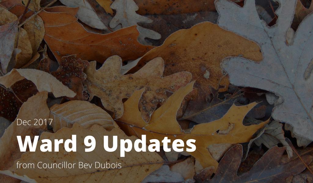 Ward 9 Update, December 2017